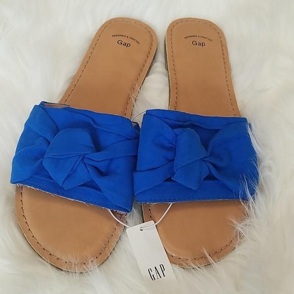 d014b9c156 GAP Shoes | New Knotted Slide Sandals Royal Blue | Poshmark